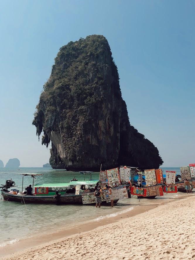 Phra Nang Beach, Krabi, Thajsko