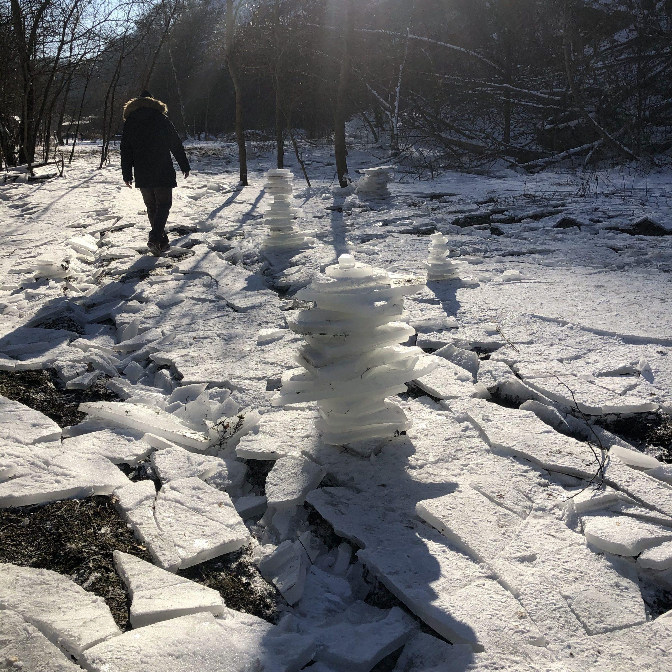 Borinský kameňolom v zime