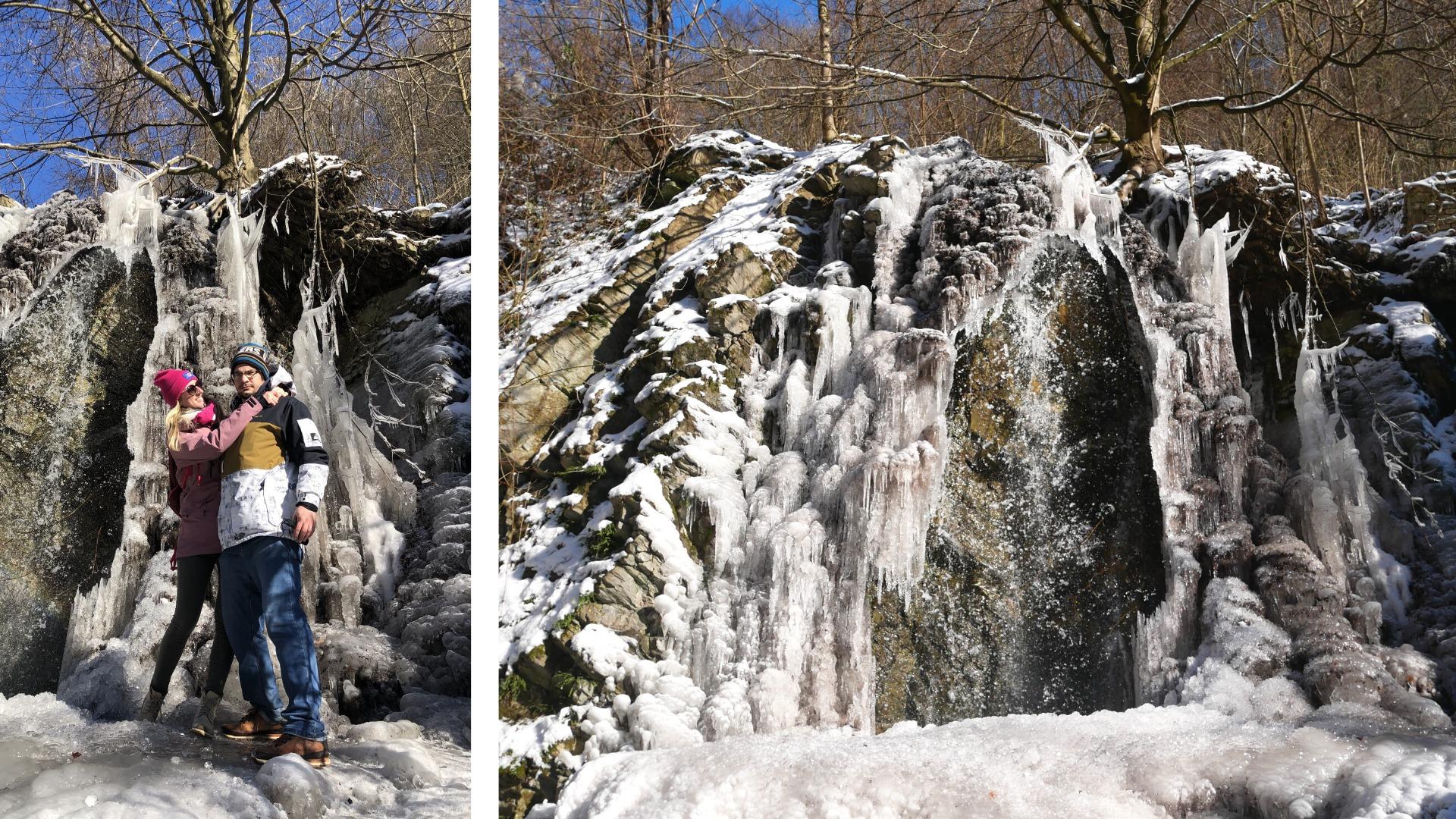 Borinský vodopád a kameňolom Medené Hámre